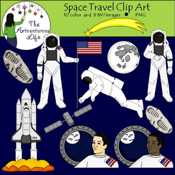 Space Travel Clip Art