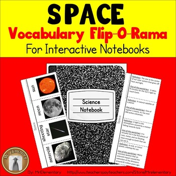 Space Vocabulary Interactive Notebook