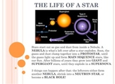 Space Vol. 1 - Sun Stars Galaxy Black Holes - PowerPoint P