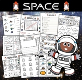Space Math and Literacy Workbook (45 pages)