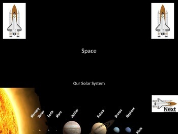 Space and Planets Learning Interactive Revision Powerpoint