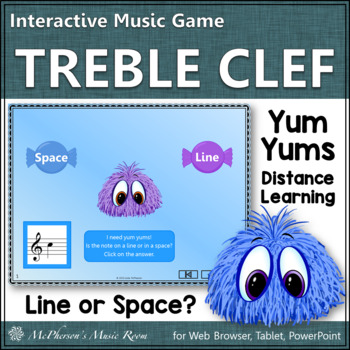 Space or Line Note? Interactive Music Game Yum Yums {monsters}