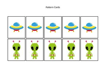 Space themed Pattern Cards #2 preschool printable activity