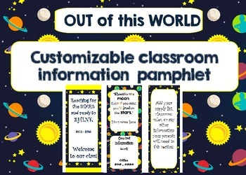 Space/Out of This World Welcome Back Pamphlet for Parents