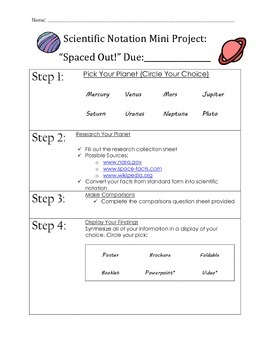 Spaced Out: A Scientific Notation Project
