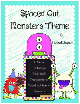 Spaced Out Monsters Classroom Theme