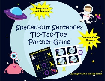 Spaced-Out Sentences Partner Game (Common Core Aligned (Fr