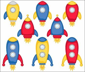 Spaceships Clip Art Set