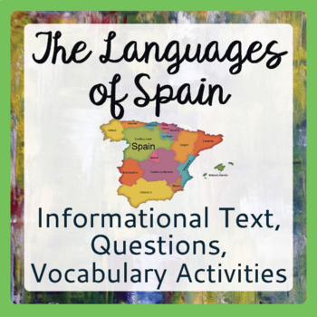 Spain Languages of Spain Informational Texts Vocabulary Ac