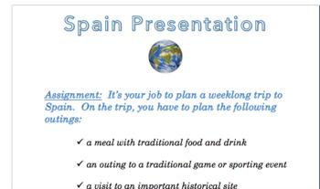Spain Presentation Rubric & Instructions (Word Doc)
