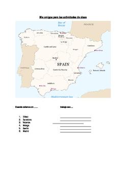 Spain Random Partner Map for  Class Pairwork