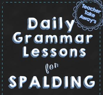 Spalding Grammar for 3rd Grade-Academic Weeks 1-5