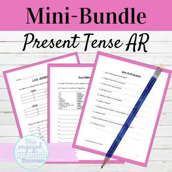 Spanish 1 -AR Verbs MINI BUNDLE: Practice, Sentence Buildi