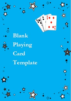 Spanish Go Fish Game: Adaptable BLANK Playing Card Deck -