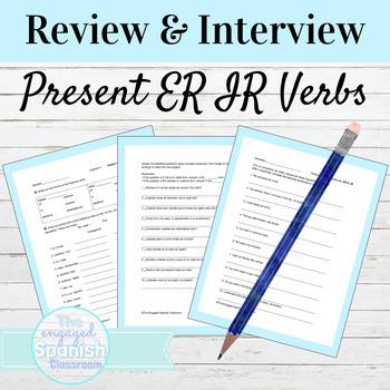 Spanish 1 Bundle of -ER and -IR verb activities