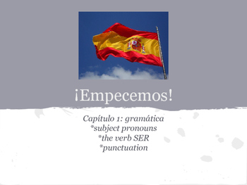 Spanish 1 Chapter 1 Grammar Guided Notes Packet: Ser and S