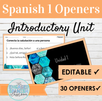Spanish 1 Class Openers: Warm up Activities for Expresate