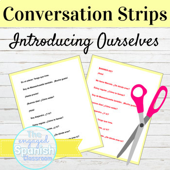 Spanish 1 Conversation Strips: Expresate 1 Chapter 1 ¡Empecemos!