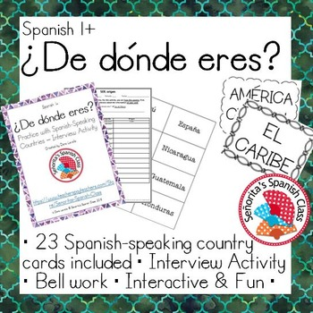 Spanish 1 - De donde eres - Interview Activity Spanish-Spe