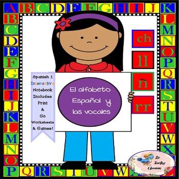 Spanish 1 El alfabeto Español y las vocales-  Interactive