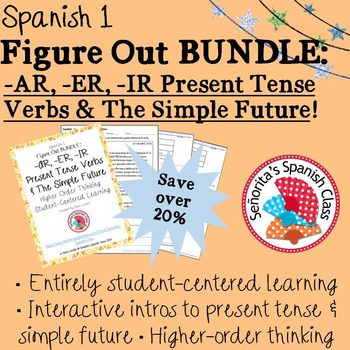Spanish 1 - Figure Out BUNDLE - Regular Present Tense Verb
