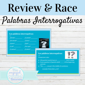 Spanish 1 Guided Notes and Word Race Activity for Common Q