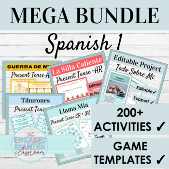 Spanish 1 Curriculum Bundle: 125+ Spanish 1 Products