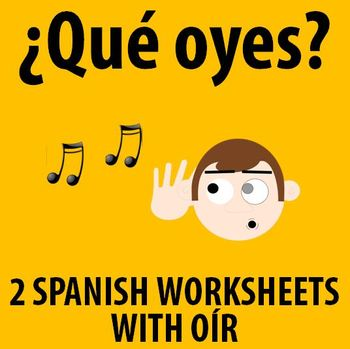 Spanish 1 - Practicing conjugating OIR (2 activities)