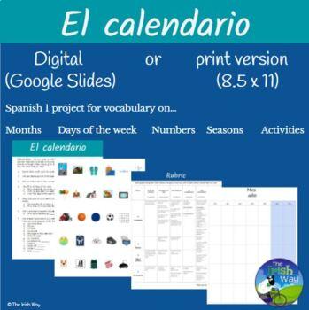 El Calendario (Un mes) Proyecto - Creating a (1 month) Cal