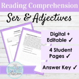 Spanish 1 Reading Comprehension: Ser and Describing People