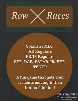 Spanish 1: Row Race Verb Conjugation (Mix: AR/ER/IR Regula