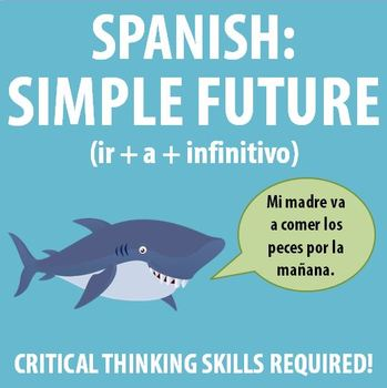 Spanish 1 - Simple future exercise that uses critical thinking