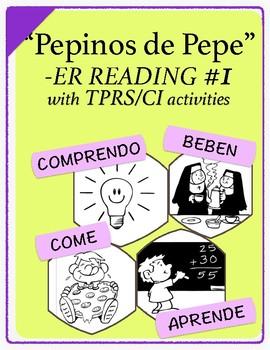 Span 1,2: TPRS Story with CI, -ER Verbs, Pkt 1(aprender, b