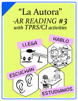 Span 1,2: TPRS Story with CI, -AR Verbs, Pkt 3(escuchar, e