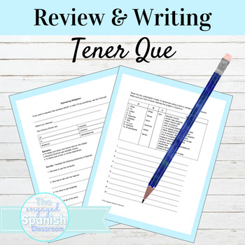 "Spanish 1: Expressions with ""Tener que"""