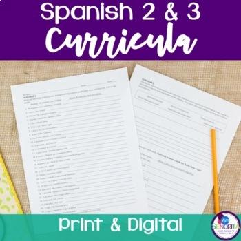Spanish 2 & 3 Entire Curricula BUNDLE