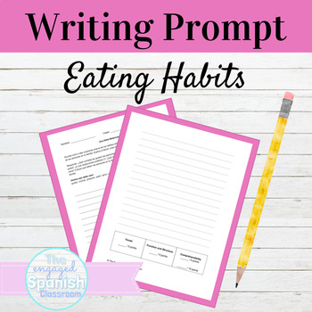 Spanish Eating Habits Writing Prompt: Buen Provecho