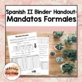 Spanish 2 Binder Handout: Formal Commands