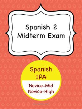 Spanish 2 Midterm Exam
