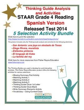 Spanish 2014 STAAR Analysis and Activities Bundle, Grade 4