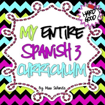 Spanish 3 Entire Curriculum - Hard Good