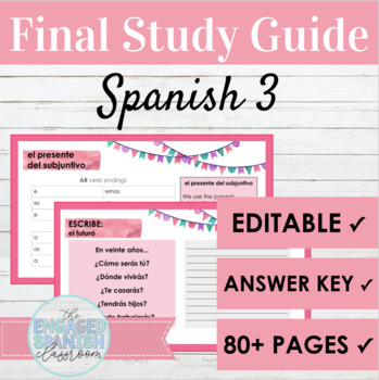 Spanish 3 Final Exam Review: 27 Slide Study Guide for Span