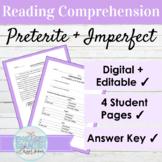 Spanish 3 Reading Comprehension: Preterite vs. Imperfect Tense