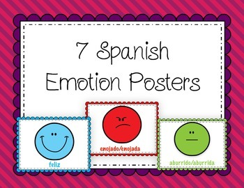 Spanish: 7 Posters for Emotions