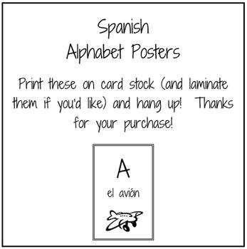 Spanish ABC Mini-Posters