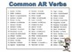 Spanish AR Verb Conjugations Notes