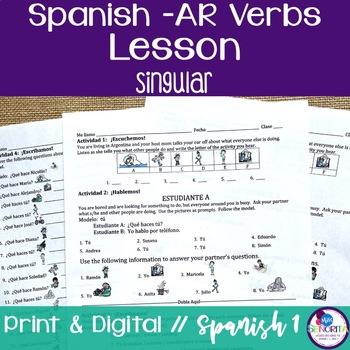 Spanish -AR Verbs Lesson - singular
