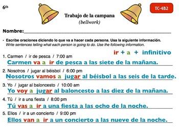 Spanish Activities - Bellwork TC64B Keynote