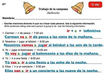 Spanish Activities - Bellwork TC64B Powerpoint