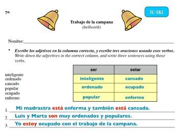 Spanish Activities Bellwork TC75B6A Keynote